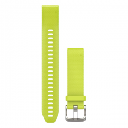Garmin Quickfit 20 Watch Band Amp Yellow Silicone Large