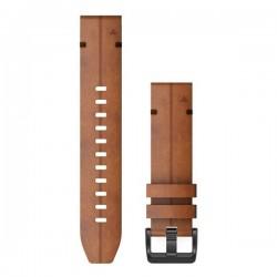 Garmin Quickfit 22mm Chestnut Leather Band