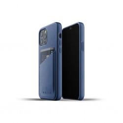 Mujjo - Leather Wallet Case for iPhone 12 & 12 Pro Monaco Blue