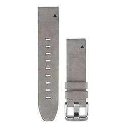 Garmin Quickfit 20mm Watch Band Gray Suede Leather