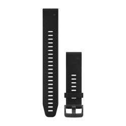 Garmin Quickfit 20 Watch Band Black Silicone Large