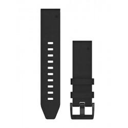 Garmin Quickfit 22mm Watch Bands Black Leather