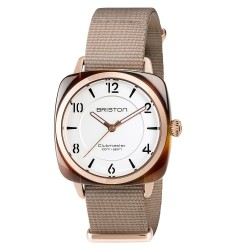 Briston - Clubmaster Chic Acetate HMS Tortoise Shell White Dial 36mm