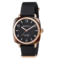 BRISTON CLUBMASTER CHIC ACETATE HMS TORTOISE SHELL BLACK DIAL 36MM