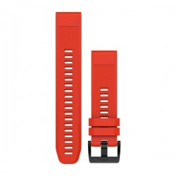 Garmin Quickfit 20mm Watch Band Flaming Red Silicone Large