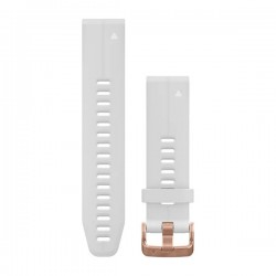 Garmin Quickfit 20 Watch Bands Rose Gold with White Silicone