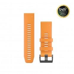 Garmin Quickfit 26 Watch Bands Spark Orange Silicone