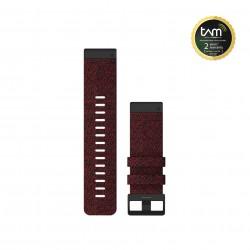 Garmin Quickfit 26mm Heathered Red Nylon Band