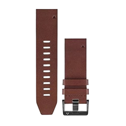 Garmin Quickfit 22 Brown Leather Band