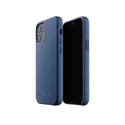 Mujjo - Full Leather Case for iPhone 12 Mini Monaco Blue
