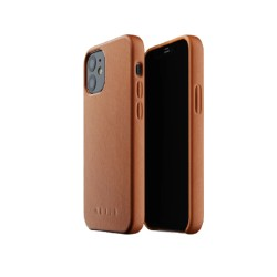Mujjo - Full Leather Case for iPhone 12 Mini Tan