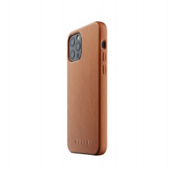 Mujjo - Full Leather Case for iPhone 12 Pro Max Tan