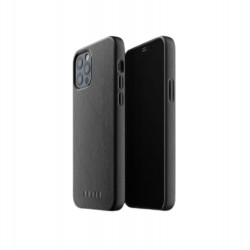Mujjo - Full Leather Case for iPhone 12 & 12 Pro Black
