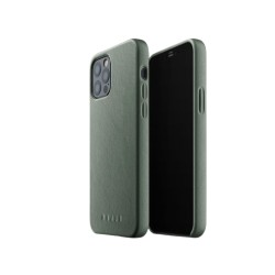 Mujjo - Full Leather Case for iPhone 12 & 12 Pro Slate Green
