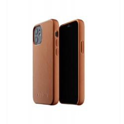 Mujjo - Full Leather Case for iPhone 12 & 12 Pro Tan