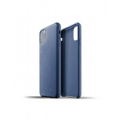 Mujjo - Full Leather Case for iPhone 11 Pro Max Monaco Blue