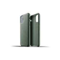 Mujjo - Full Leather Case for iPhone 11 Pro Slate Green