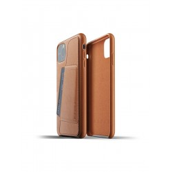 Mujjo Full Leather Wallet Case for iPhone 11 Pro Max Tan