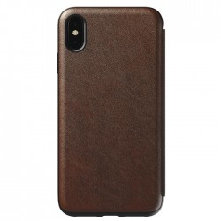 Nomad iPhone Xs Max Rugged Folio Case - Brown