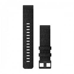Garmin Quickfit 22mm Heathered Black Nylon Band