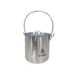 Pathfinder Stainless Steel Bush Pot & Lid Set - 64oz