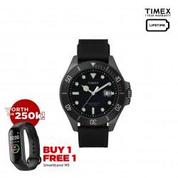 Timex Harborside Coast 43mm Silicone Strap Watch - TW2U42000