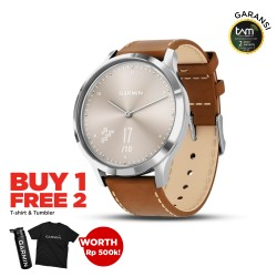 Garmin Vivomove HR Premium Silver-Tan