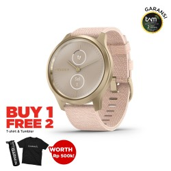 Garmin Vivomove Style Light Gold - Pink Nylon
