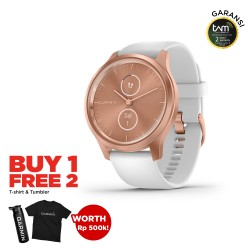 Garmin Vivomove Style Rose Gold - White