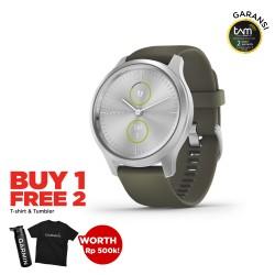 Garmin Vivomove Style Silver - Moss Green
