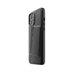 Mujjo - Full Leather Wallet Case for iPhone 12 Pro Max Black