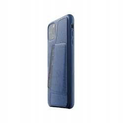 Mujjo - Full Leather Wallet Case for iPhone 12 Pro Max Monaco Blue