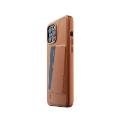 Mujjo - Full Leather Wallet Case for iPhone 12 Pro Max Tan