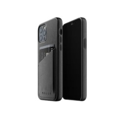 Mujjo - Leather Wallet Case for iPhone 12 & 12 Pro Black