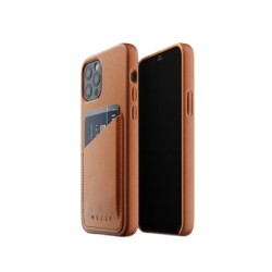 Mujjo - Leather Wallet Case for iPhone 12 & 12 Pro Tan