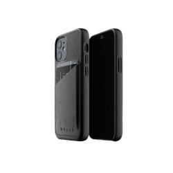 Mujjo - Leather Wallet Case for iPhone 12 Mini Black