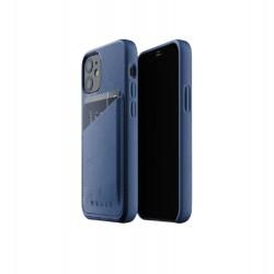 Mujjo - Leather Wallet Case for iPhone 12 Mini Monaco Blue