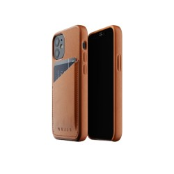 Mujjo - Leather Wallet Case for iPhone 12 Mini Tan