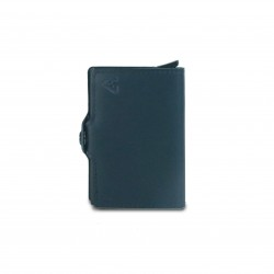 Press Play Classic V2 RFID Leather Pop Up Card Case Wallet Navy Blue