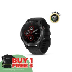 Garmin Fenix 5 Plus - Sapphire DLC Carbon Gray W/ Black Band