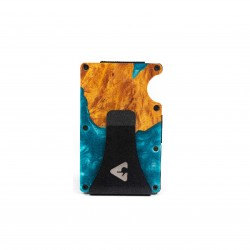 Press Play Grip RFID Card Wallet Aquamarine Blue