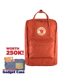 "Fjallraven Kanken Laptop 15"" - Rowan Red"