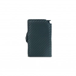 Press Play Noir Carbon Fiber RFID Card Wallet Black
