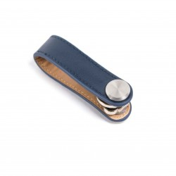 Press Play Revolve Leather Key Holder Navy