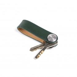 Press Play Revolve Leather Key Holder Forest