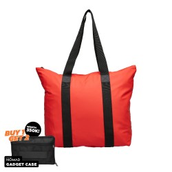 Rains Tote Bag Rush Red