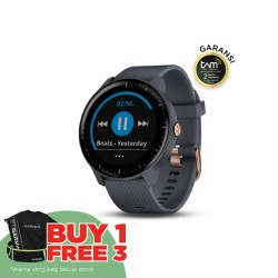 Garmin Vivoactive 3 Music Premium - Granite/Blue