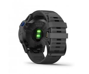 Garmin Fenix 6 Pro Solar - Black w/ Slate Gray Band