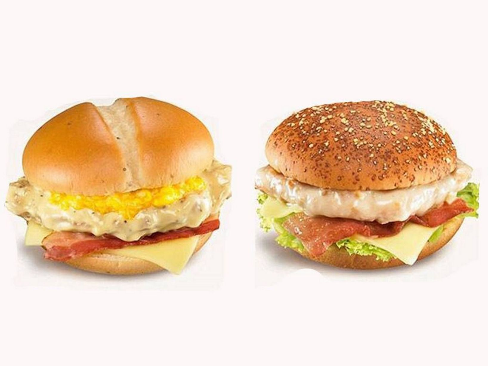 Cheese-Fondue-left-and-Carbonara-burger-right-served-in-Japan